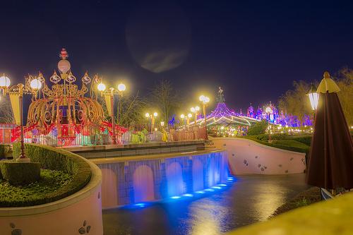 photo credit: Fantasyland at night via photopin (license)